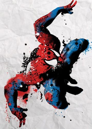 SPIDER MAN - PAINT SPLAT canvas print - self adhesive poster - photo print